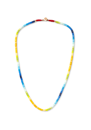 Roxanne Assoulin - Surf's Up Enamel and Gold-Tone Necklace - Men - Yellow
