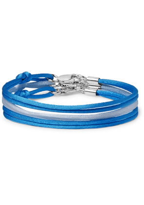 Rubinacci - Set of Three Silk Bracelets - Men - Blue
