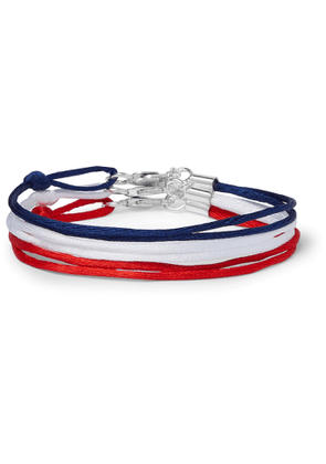 Rubinacci - Set of Three Silk Bracelets - Men - Red