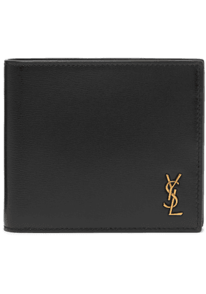 SAINT LAURENT - Logo-Appliquéd Leather Billfold Wallet - Men - Black
