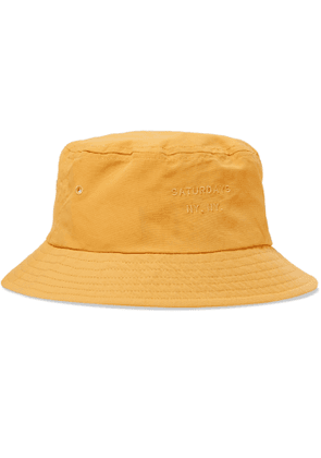 Saturdays NYC - Logo-Embroidered Twill Bucket Hat - Men - Yellow