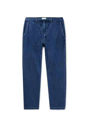 Saturdays NYC - Shaw Tapered Indigo-Dyed Denim Drawstring Trousers - Men - Blue