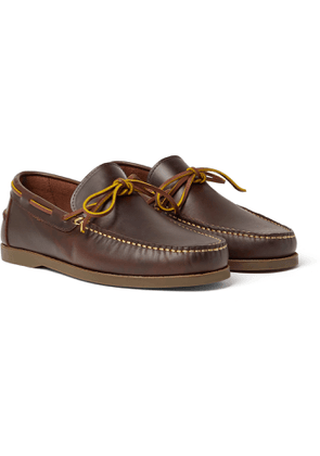 Sid Mashburn - Camp Leather Loafers - Men - Brown