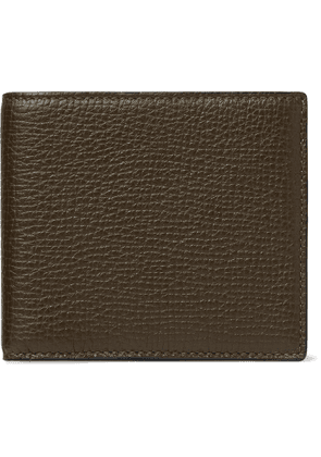 Smythson - Full-Grain Leather Billfold Wallet - Men - Green