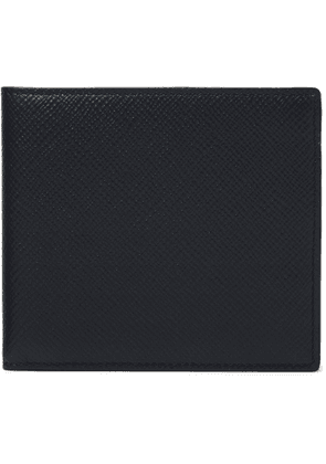 Smythson - Cross-Grain Leather Billfold Wallet - Men - Blue