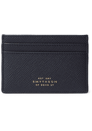 Smythson - Panama Cross-Grain Leather Cardholder - Men - Blue
