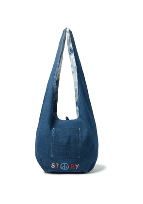 Story Mfg. - Logo-Embroidered Organic Cotton-Canvas Tote - Men - Blue