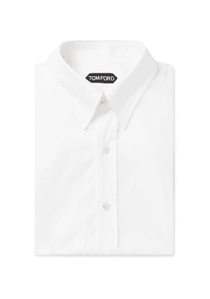 TOM FORD - Slim-Fit Cotton-Poplin Shirt - Men - White