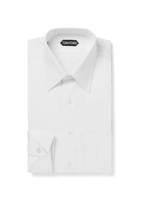 TOM FORD - Slim-Fit Bib-Front Cotton Shirt - Men - White