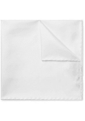 TOM FORD - Silk-Twill Pocket Square - Men - White