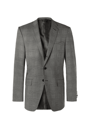TOM FORD - O'Connor Prince of Wales Checked Wool-Blend Suit Jacket - Men - Gray