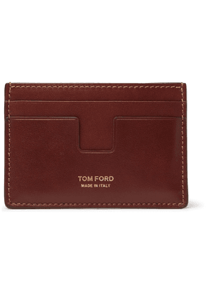 TOM FORD - Leather Cardholder - Men - Brown