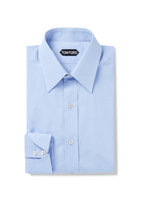 TOM FORD - Slim-Fit Sea Island Cotton Shirt - Men - Blue