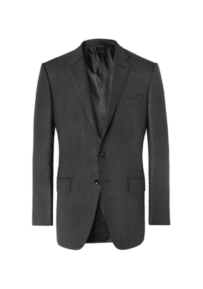 TOM FORD - O'Connor Slim-Fit Prince of Wales Checked Wool and Silk-Blend Suit Jacket - Men - Black