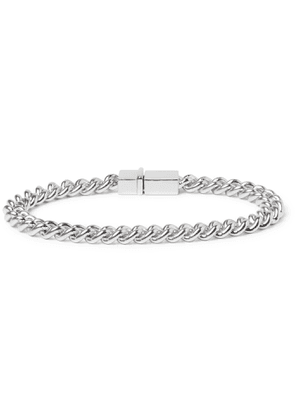 Tom Wood - Rhodium-Plated Sterling Silver Chain Bracelet - Men - Silver