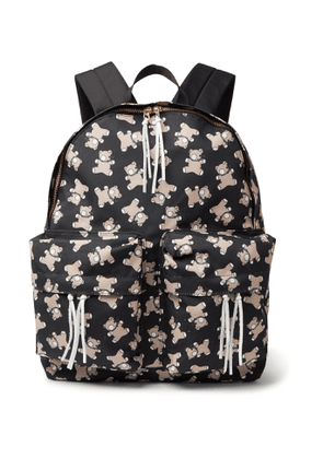 Undercover - Screwbear Printed Canvas Backpack - Men - Black