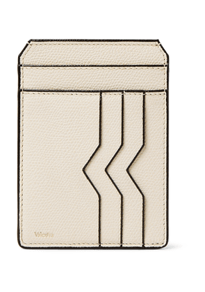 Valextra - Pebble-Grain Leather Cardholder - Men - Neutrals