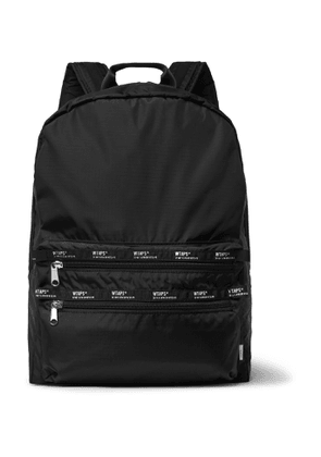 WTAPS - Logo-Appliquéd Ripstop Backpack - Men - Black