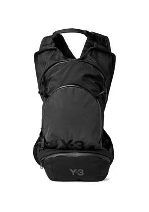 Y-3 - CH1 Logo-Detailed Mesh-Panelled Shell Backpack - Men - Gray