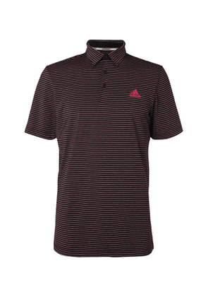 Adidas Golf - Ultimate365 Space-Dyed Striped Stretch-Jersey Golf Polo Shirt - Men - Black