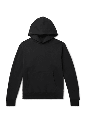 adidas Consortium - Pharrell Williams Embroidered French Cotton-Terry Hoodie - Men - Black