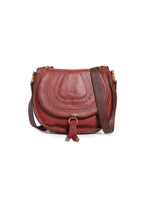 What Goes Around Comes Around Chloe Red Leather Medium Marcie Crossbody Bag