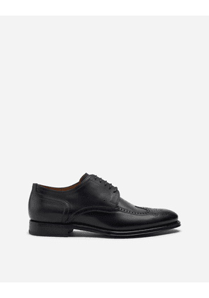 Dolce & Gabbana Lace-Ups - BROGUE DERBY IN GIOTTO PAINT CALFSKIN GREEN