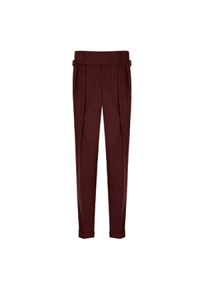 Burgundy VBC Flannel Sexton House Trousers