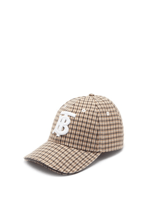 Burberry - Tb-embroidered Checked Baseball Cap - Mens - Multi