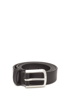 Paul Smith - Grained Leather Belt - Mens - Black