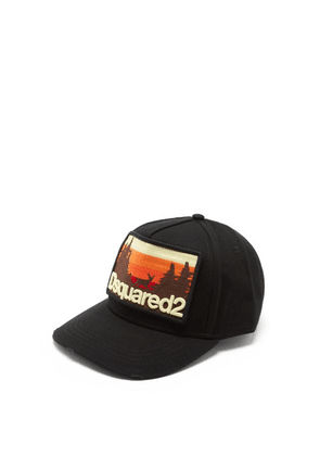 Dsquared2 - Sunset-embroidered Cotton-canvas Baseball Cap - Mens - Black