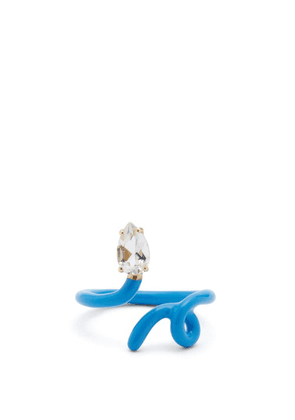 Bea Bongiasca - Tendril Crystal, Gold And Enamel Ring - Womens - Blue