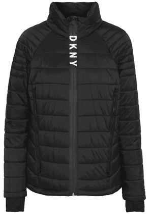 Dkny Quilted Shell Jacket Woman Black Size XS