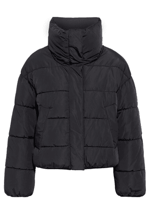 Dkny Appliquéd Quilted Shell Jacket Woman Black Size M
