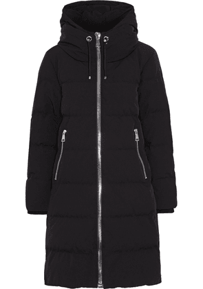 Dkny Quilted Shell Hooded Down Coat Woman Black Size XS