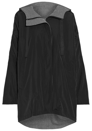 Dkny Reversible Printed Shell Hooded Jacket Woman Black Size XS