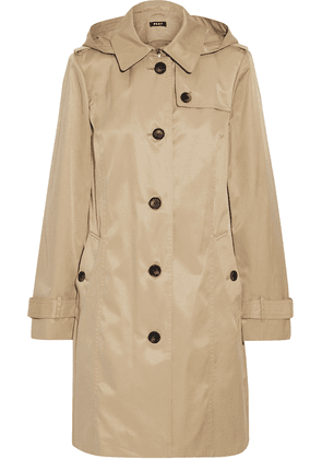 Dkny Cotton-blend Twill Hooded Trench Coat Woman Sand Size S