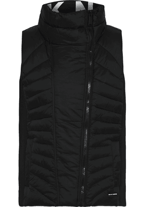 Dkny Neoprene-paneled Quilted Shell Vest Woman Black Size XS