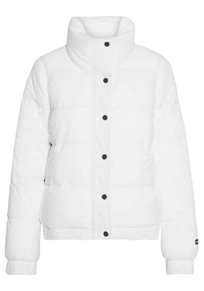 Dkny Printed Quilted Shell Jacket Woman White Size XL