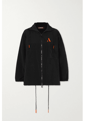 AARMY - Embroidered Shell Track Jacket - Black