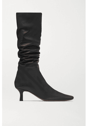 Neous - Cynis Leather Knee Boots - Black