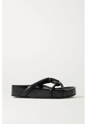 Co - Leather Sandals - Black
