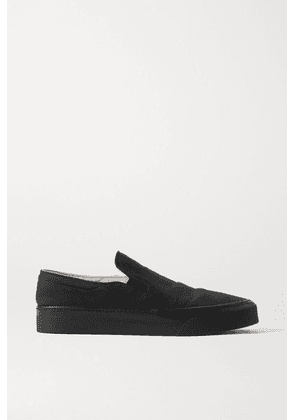 The Row - Marie H Canvas Slip-on Sneakers - Black