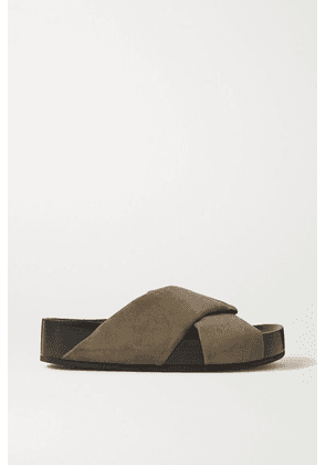 Co - Suede Slides - Army green