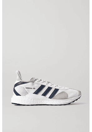 adidas Originals - + Human Made Tokio Solar Leather-trimmed Suede And Mesh Sneakers - White