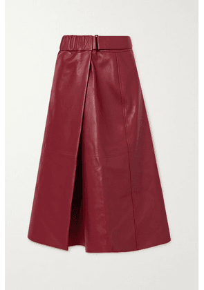 Acne Studios - Leather Wrap Skirt - Red