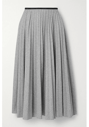 Moncler - Pleated Jersey Midi Skirt - Gray