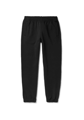 adidas Consortium - Pharrell Williams Embroidered French Cotton-Terry Sweatpants - Men - Black