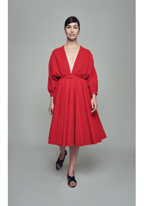 Emilia Wickstead Lilith Cotton-Blend Belted Dress