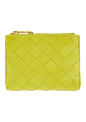 Bottega Veneta Green Mini Intrecciato Wallet